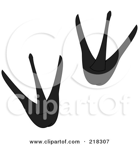 Royalty-Free (RF) Clipart Illustration of a Pair Of Black And ...
