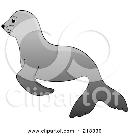 Royalty-Free (RF) Baby Seal Clipart, Illustrations, Vector Graphics #1