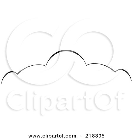 Royalty-Free (RF) Clipart Illustration of a Black And White Elegant Swirl Border Element - Version 2 by BestVector