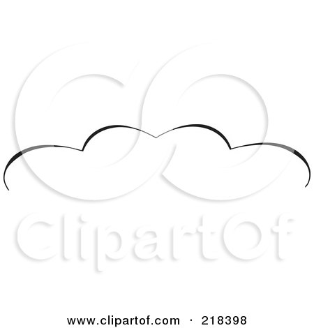 Royalty-Free (RF) Clipart Illustration of a Black And White Elegant Swirl Border Element - Version 4 by BestVector
