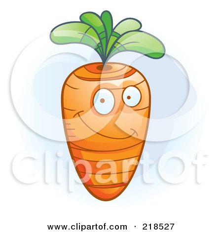 Royalty-Free (RF) Clipart Illustration of a Happy Carrot Character by Cory Thoman