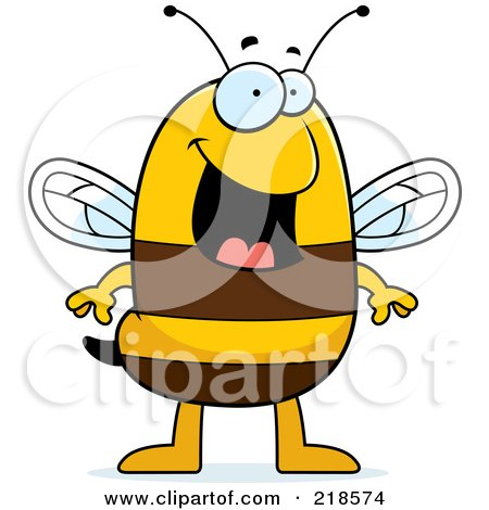 Royalty-Free (RF) Clipart Illustration of a Happy Bee Standing by Cory Thoman