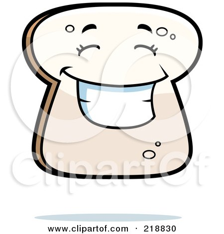 Slice of Bread Clipart Happy Bread Slice Character