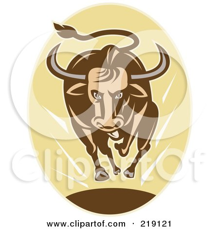 Royalty-Free (RF) Bull Charging Clipart, Illustrations ...