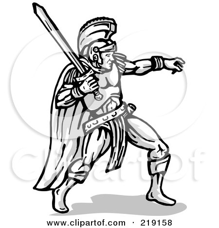 Royalty Free Gladiator Illustrations By Patrimonio Page 1