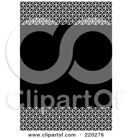 Royalty-Free (RF) Clipart Illustration of a Formal Invitation Design Of Circle Borders Over Black by BestVector