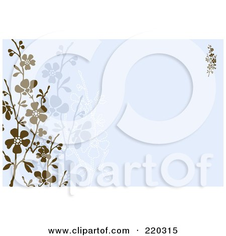 Royalty-Free (RF) Clipart Illustration of a Formal Invitation Border With Blossoms - 5 by BestVector