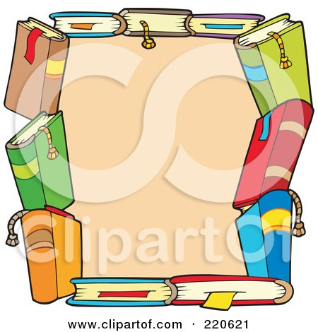 Royalty-Free (RF) Book Border Clipart, Illustrations, Vector ...