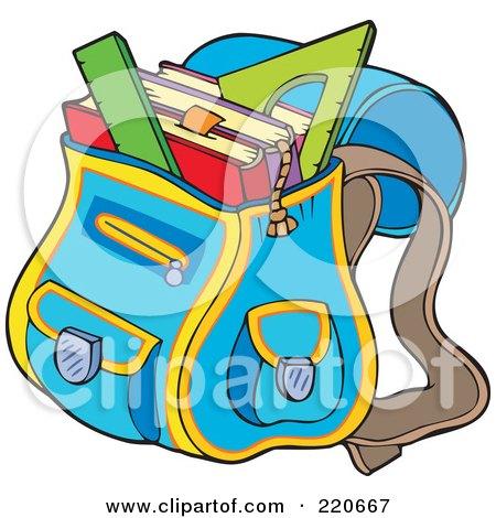 Royalty-Free (RF) School Bag Clipart, Illustrations, Vector ...