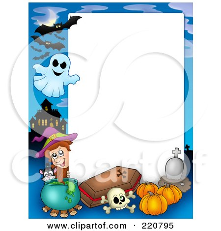 Royalty-Free (RF) Clipart of Halloween Frames, Illustrations, Vector ...