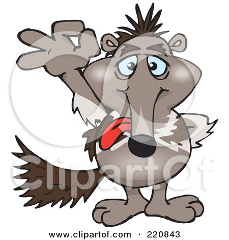 Royalty-Free (RF) Clipart Illustration of a Happy Anteater Gesturing Ok by Dennis Holmes Designs