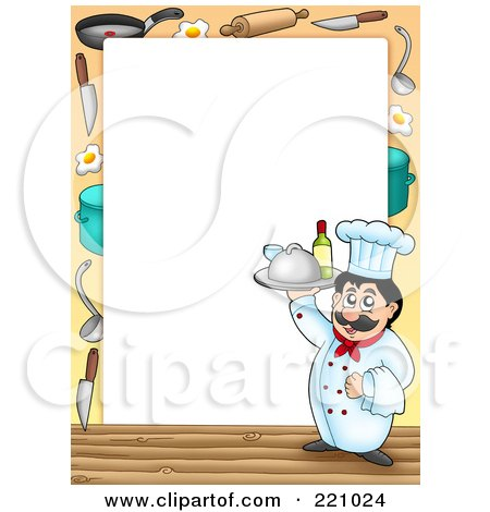 Royalty-Free (RF) Clipart of Chef Frames, Illustrations ...