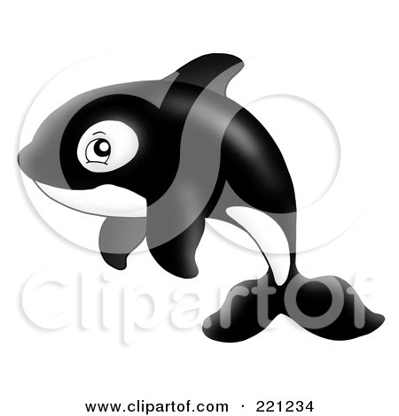 Royalty-Free (RF) Clipart Illustration of an Adorable Orca Whale by visekart