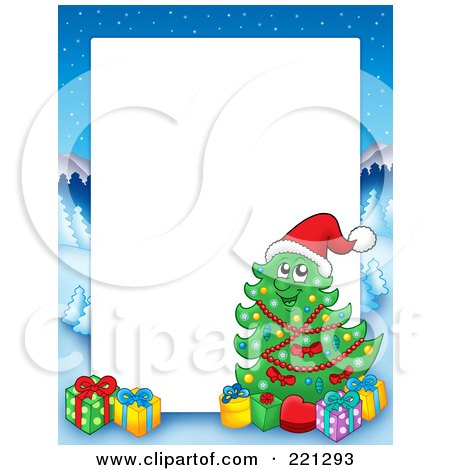 Christmas Border Clipart Landscape.Royalty Free Rf Clipart Illustration Of A Christmas Frame