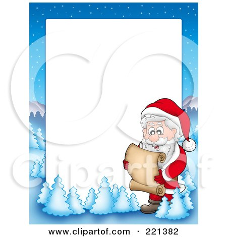 Free on Royalty Free  Rf  Clipart Illustration Of A Christmas Frame Border Of