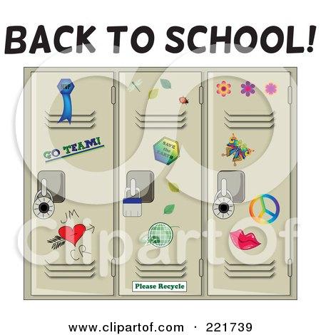 Back To School Greeting Over Tan School Lockers Posters, Art Prints