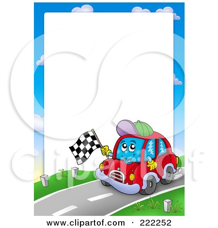 Royalty Free Rf Clipart Of Car Borders Illustrations