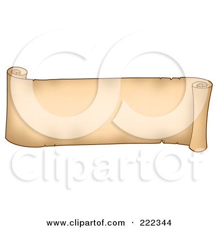 Royalty-Free (RF) Clipart Illustration of a Horizontal Parchment Banner by visekart