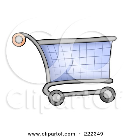 Royalty-Free (RF) Clipart Illustration of a Shopping Cart by visekart