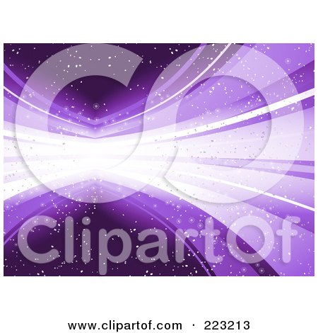 Royalty-Free (RF) Clipart Illustration of a Purple Explosion Of Light And Speckles by elaineitalia