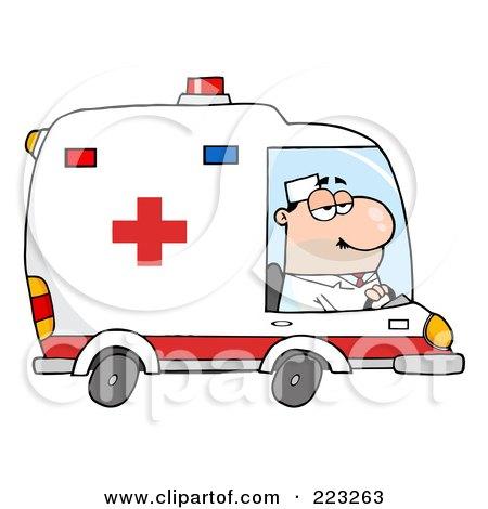 Royalty Free Rf Ambulance Driver Clipart Illustrations