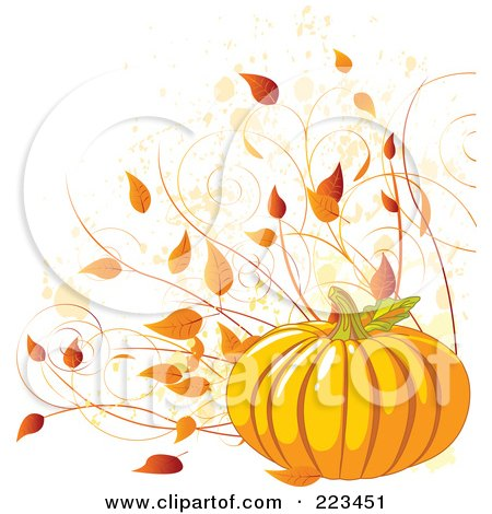Fall Leaves And Pumpkin Clip Art Art prints & posters of