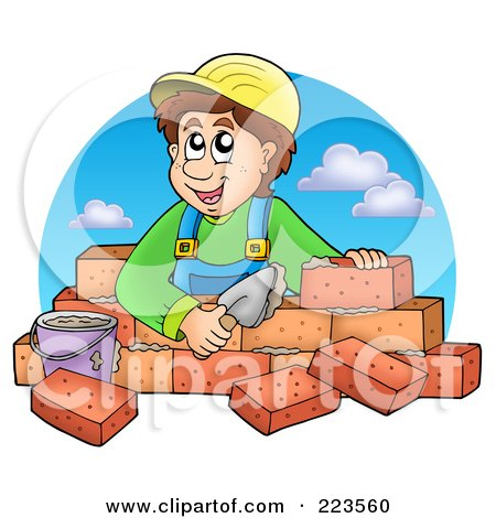 Royalty-Free (RF) Clipart of Brick Layers, Illustrations, Vector ...
