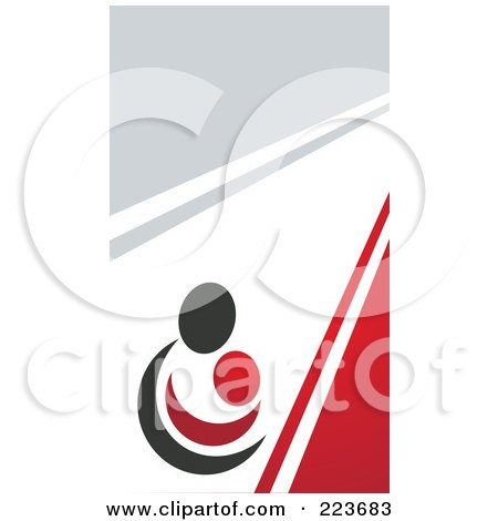 Business card design of an abstract mother and child on gray white business card design of an abstract mother and child on gray white and red posters reheart Gallery