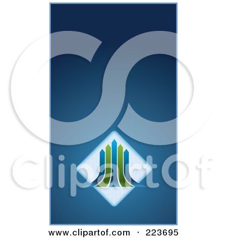 Business Card Design Of Green And Blue Arrows Over Diamonds On Blue Posters, Art Prints