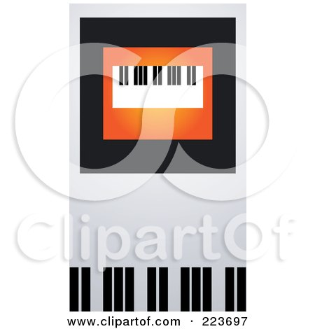 Royalty-Free (RF) Clipart Illustration of a Business Card Design Of A Keyboard On Orange, Black And Gray by Eugene