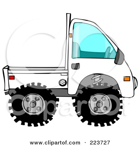 Royalty-Free (RF) Clipart Illustration of a White Keimini Truck by djart