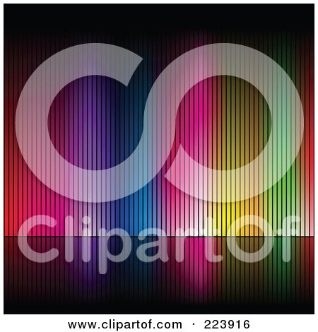 Royalty-Free (RF) Clipart Illustration of an Array Of Colors On A Black Background - 4 by cidepix