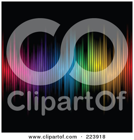 Royalty-Free (RF) Clipart Illustration of an Array Of Colors On A Black Background - 2 by cidepix
