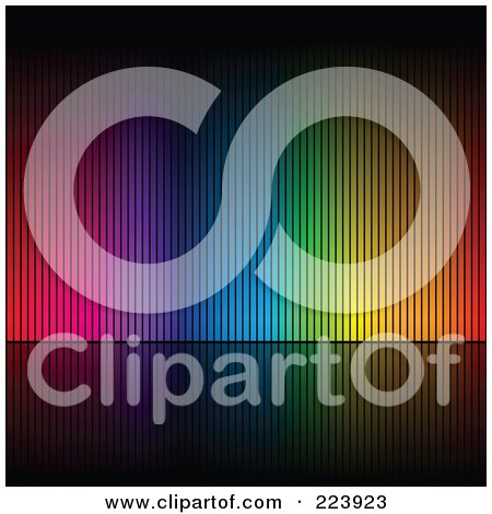 Royalty-Free (RF) Clipart Illustration of an Array Of Colors On A Black Background - 1 by cidepix