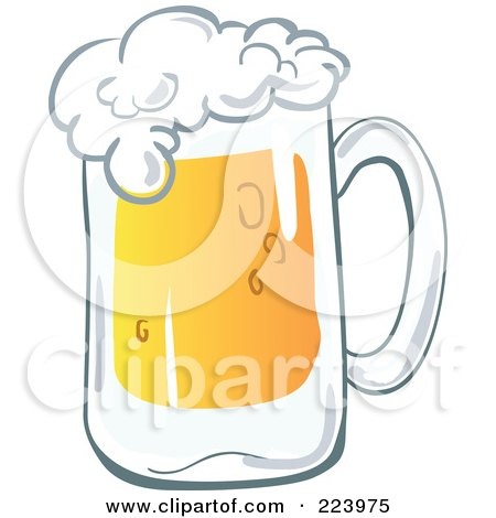 royalty free rf clipart illustration of a big frothy mug of beer by yayayoyo 223975. Black Bedroom Furniture Sets. Home Design Ideas