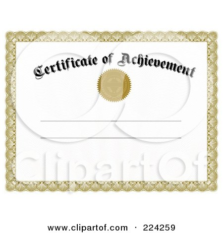 Certificate of Achievement Template Printable