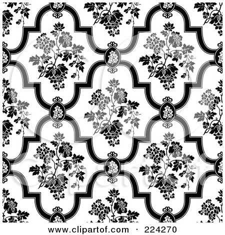 flower patterns black and white. And White Floral Pattern