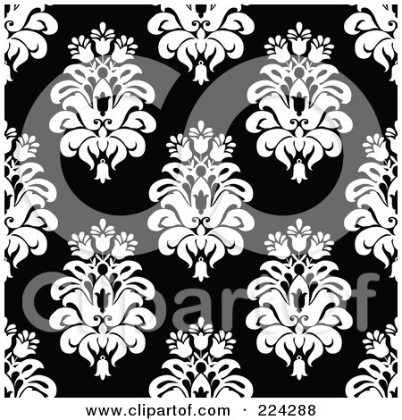 black and white floral pattern. And White Floral Pattern