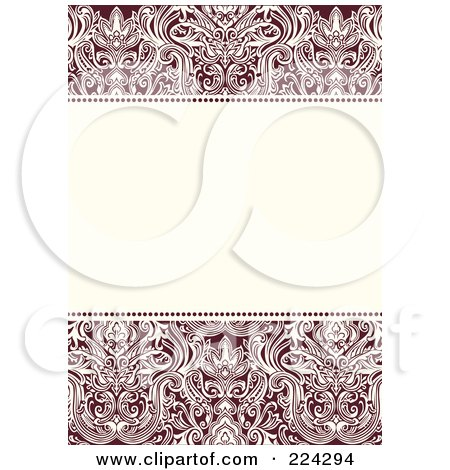 Royalty-Free (RF) Clipart Illustration of a Floral Invitation Template With Copyspace - 5 by BestVector