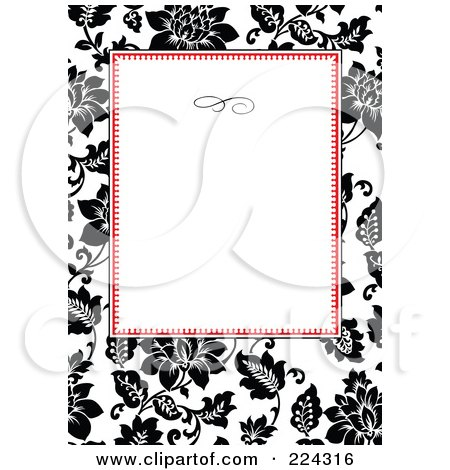 Royalty-Free (RF) Clipart Illustration of a Floral Invitation Template With Copyspace - 21 by BestVector