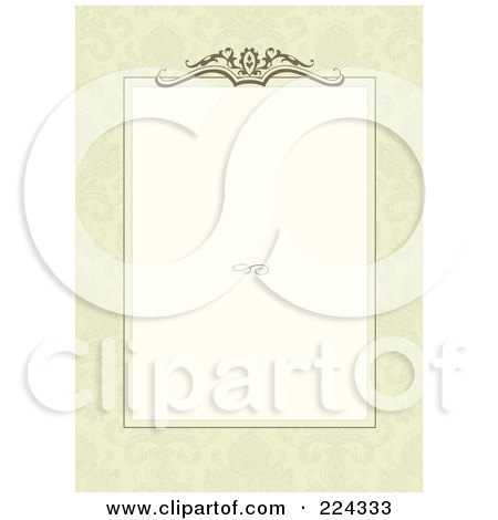 Royalty-Free (RF) Clipart Illustration of an Invitation Template With Copyspace - 7 by BestVector