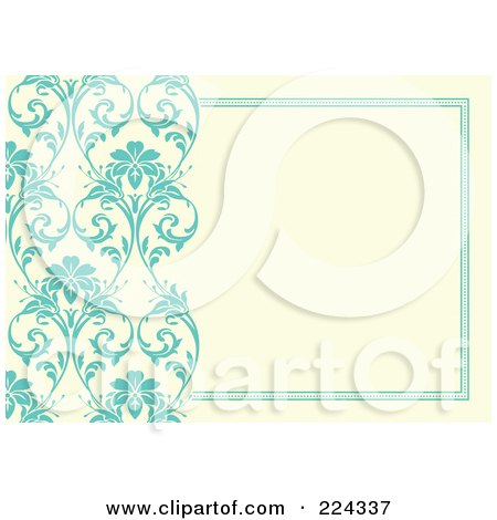 Royalty-Free (RF) Clipart Illustration of a Floral Invitation Template With Copyspace - 15 by BestVector