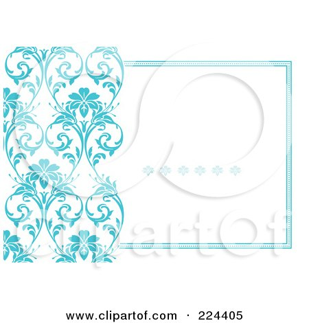 royalty free rf clipart illustration of a floral invitation
