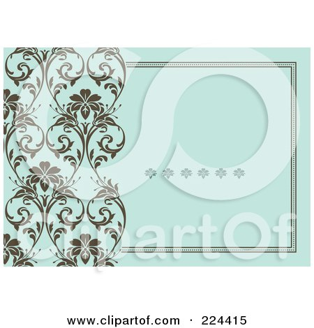 Royalty-Free (RF) Clipart Illustration of a Floral Invitation Template With Copyspace - 31 by BestVector