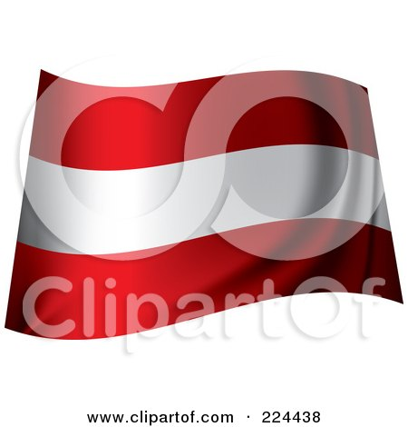 Royalty-Free (RF) Clipart Illustration of a Waving Austria Flag by michaeltravers