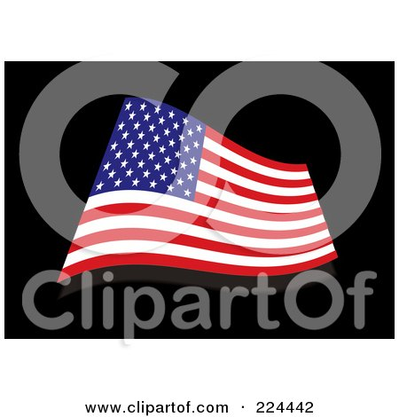 Royalty-Free (RF) Clipart Illustration of a Wavy USA Flag by michaeltravers