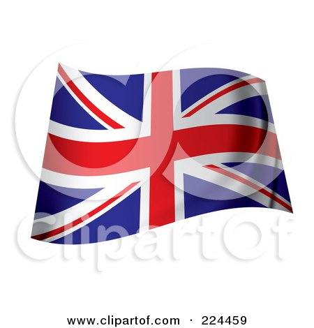 Royalty-Free (RF) Clipart Illustration of a Wavy UK Flag by michaeltravers