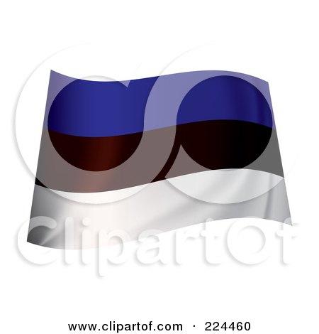 Royalty-Free (RF) Clipart Illustration of a Waving Estonia Flag by michaeltravers