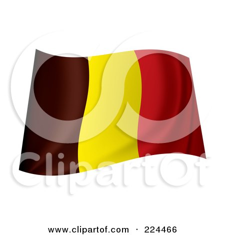 Royalty-Free (RF) Clipart Illustration of a Waving Belgium Flag by michaeltravers