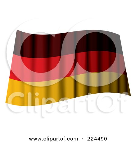 Royalty-Free (RF) Clipart Illustration of a Waving German Flag by michaeltravers